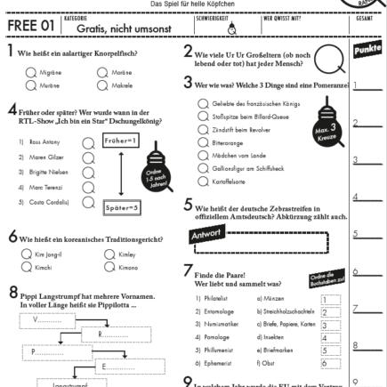 Gratis Pub Quiz Vorlage runterladen und quizzen